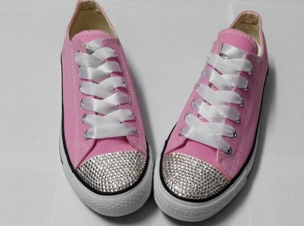 Hot new 2016 men and women star shoes, unisex classic white canvas shoes, fashion brand DIY creative sticky diamond shoes all 35-4103