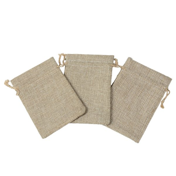 Small Jute Jewelry Bags Jute Drawstring burlap bags Gift Candy Beads Bags for Handmade Soap Storage Wedding Decor