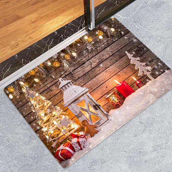 Décorations de Noël pour la maison Joyeux Noël Nouvel an Bienvenue Tapisseries Intérieur Maison Tapis Décor De Fête De Noël Décoration 40x60 CM SH190916