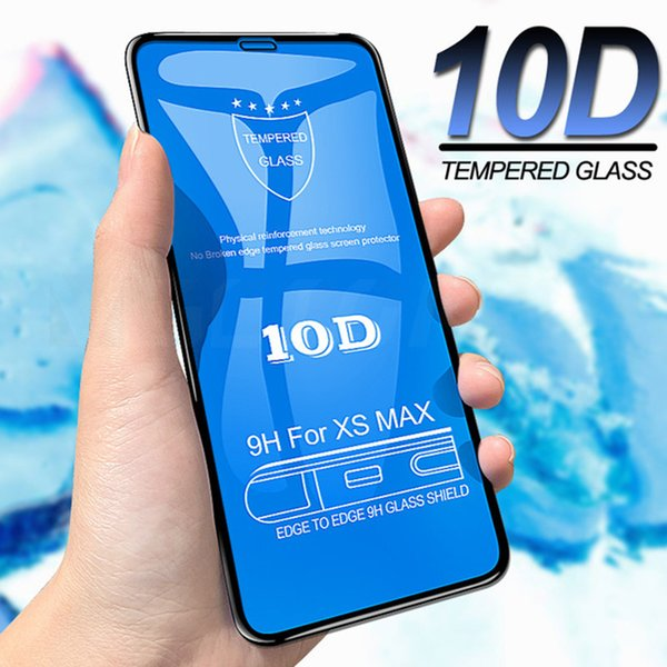 9H Screen Protector 10D Tempered Glass Hard Anti-Scratch Protective Explosion-proof Guard Film For iPhone 11 Pro Max XS XR X 8 7 6 6S Plus