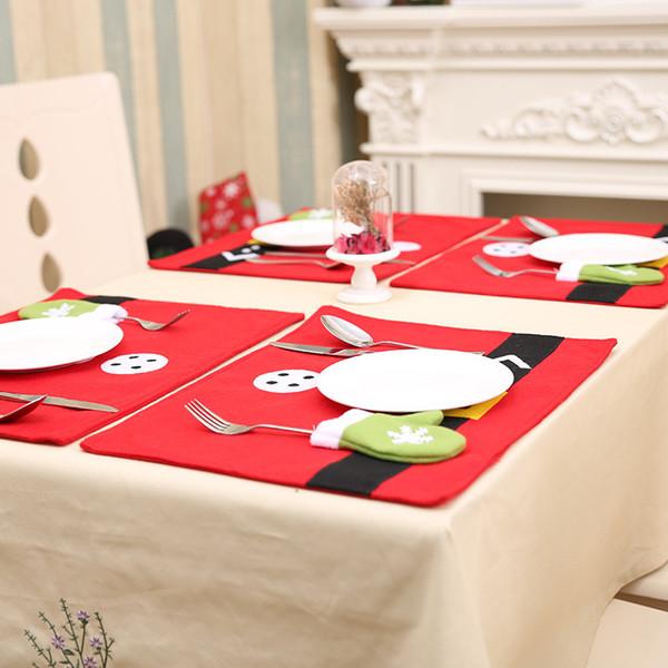 Nouveau design de 40 * 30cm Les détenteurs Argenterie napperons Décorations de Noël pour la maison Dinner Table Décor Nouvel An Décoration d'intérieur