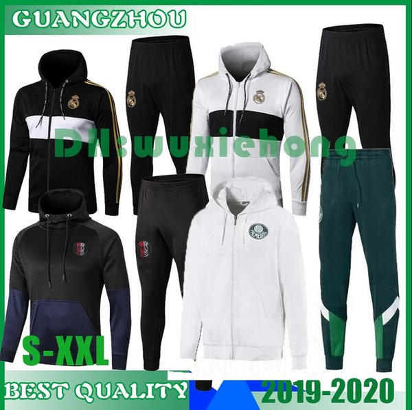 19 20 Real Madrid PSG Ajax Palmeiras Fußball-Chandal Fußball-Trainingsanzug Training 2019 2020 Paris Mbappe Trainingsanzug Jogging-Chandal S-XXL
