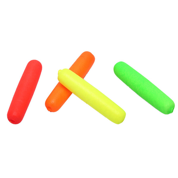 10pcs Small Foam Cylinder Rig Float Fishing Float Tip Visual Beans Red Orange Yellow Green Stops Terminal Accessories