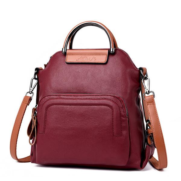 2019 New Arrival Genuine Leather Backpacks For Women Vintage Backpack Female Retro Back Pack Ladies Rucksack Shoulder Bag