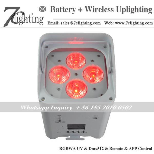 Freedom Par 4x18W RGBWA UV 6 en 1 LED Etapa Batería de luz Par Light Inalámbrico Dmx512 Control remoto APLICACIÓN WiFi Control para evento de boda Iluminación Decoración