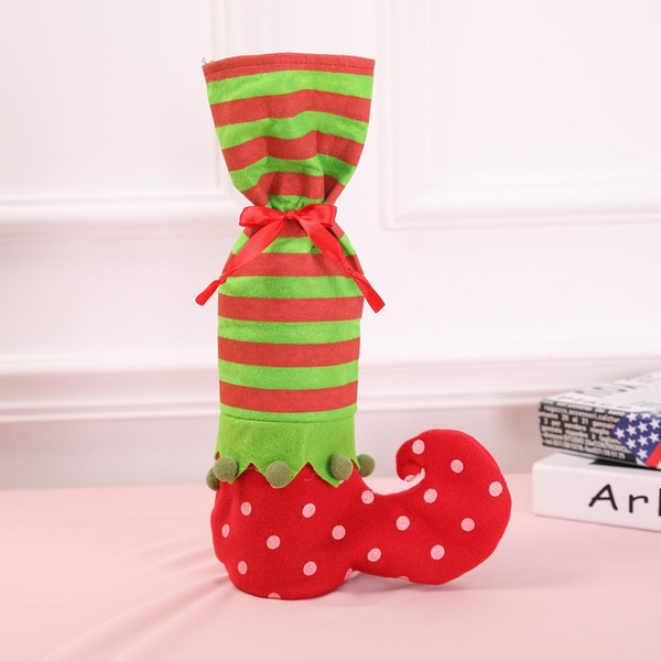 Polka Dot Boots Candy Bag Christmas Decoration Elf Candy Bag Christmas Gift Promotional Gifts Decorations for Home