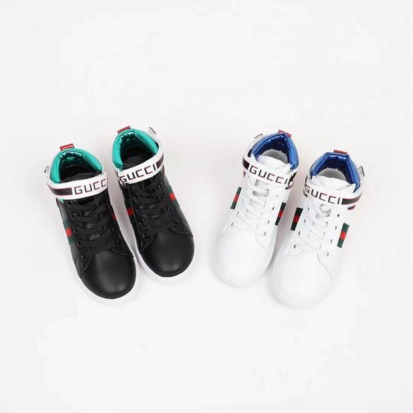 Baby boy basketball shoe sneaker white basketball shoe kid geniune leather boots korea sport girl black walking toddler for little girl