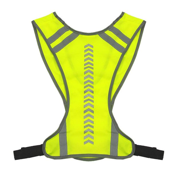 top popular Cycling Arrow Vest Guide Indication Reflective Vests Outdoor Night Run Warning Vest Cycling Equipment 2020