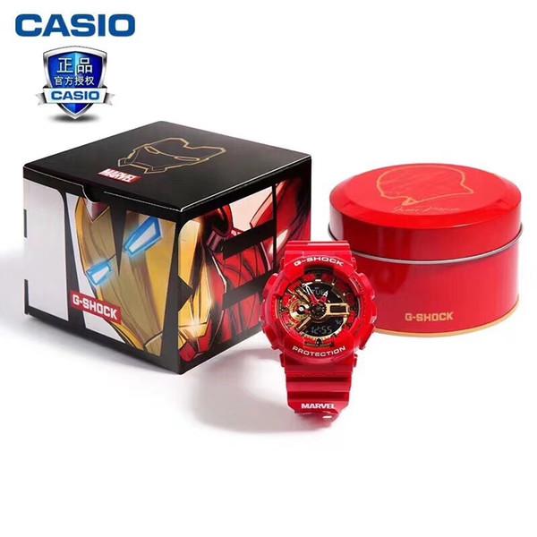 Heißer Verkauf MARVEL Limited Edition Herrenuhren Kautschukband Iron Man und Captain America stoßfest Uhr cool Designer wasserdicht Uhren