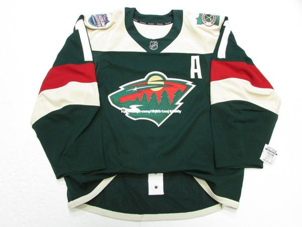 Cheap custom PARISE MINNESOTA WILD STADIUM SERIES TEAM ISSUED JERSEY stitch add any number any name Mens Hockey Jersey GOALIE CUT 5XL