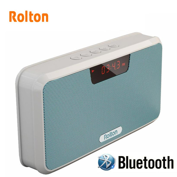Rolton Power Bank Bluetooth Portable Speaker Support TF Card Play Mp3 Hands-Free Telephone FM Radio And Recording LED Screen