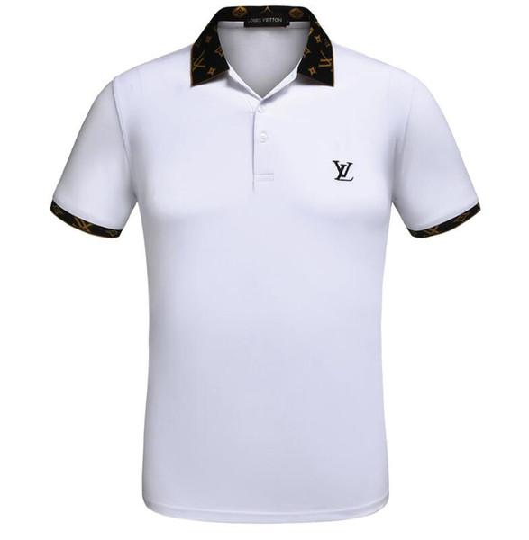 2074bd91c Italia marca Louis Vuitton camisa polo camisetas para hombre polos casuales  con bordado Letra G Moda