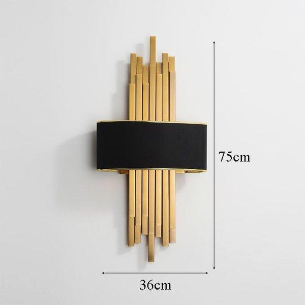 lampada da parete H75cm