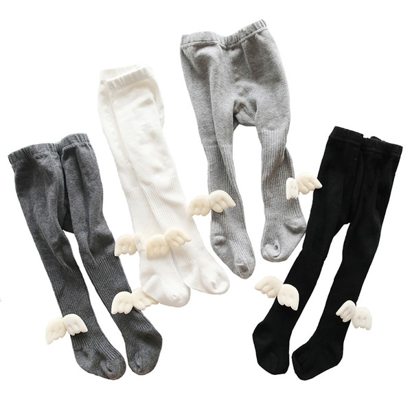 Baby Girl Pantyhose Angel Wing Cotton Tights Newborn Toddler Stockings Infant Bebe Knitted PP Tight For Kids Child 0-6Y