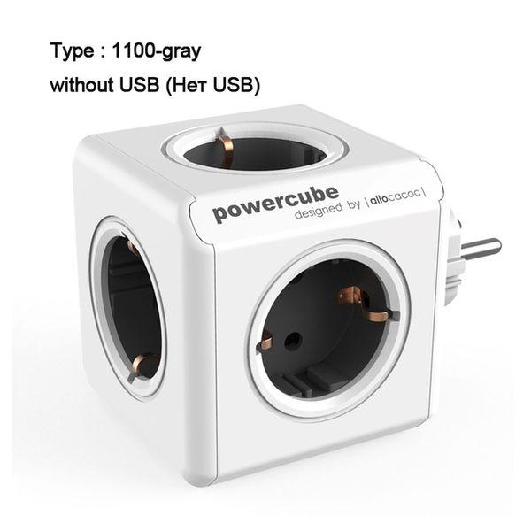 EU Plug - grigio-senza-USB