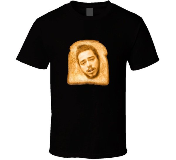 Best Post Malone # Toast Malone Funny Meme T Shirt Brand Shirts Jeans Print Suit Hat Pink T-shirt