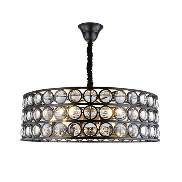 Großhandel Neues Design Moderne Kristall Kronleuchter Lampe Wohnzimmer  Schlafzimmer Retro Pendelleuchte Amerikanischen Luxus Schwarz Kristall ...