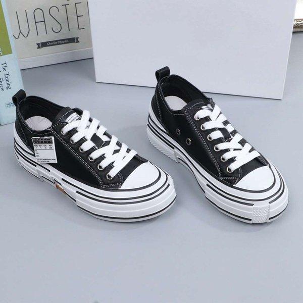 En moda tasarımcısı, eğlence, düz, üst ayakkabı, yürüyüş, siyah ve beyaz, öğrenci kayışları, düşük üst ayakkabı, 35-39