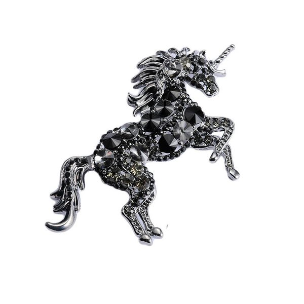 2019 new vintage style horse brooch unicorn brooch european and american pop jewelry