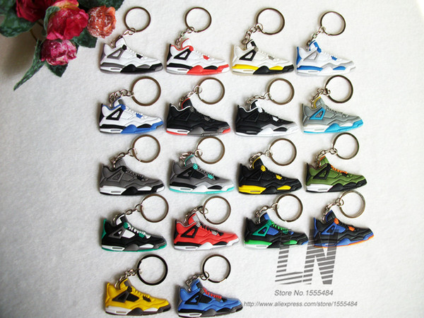 best selling NEW Mini Silicone Shoes Keychain Bag Charm Woman Men Kids Key Ring Gifts Sneaker Key Holder Key Chain