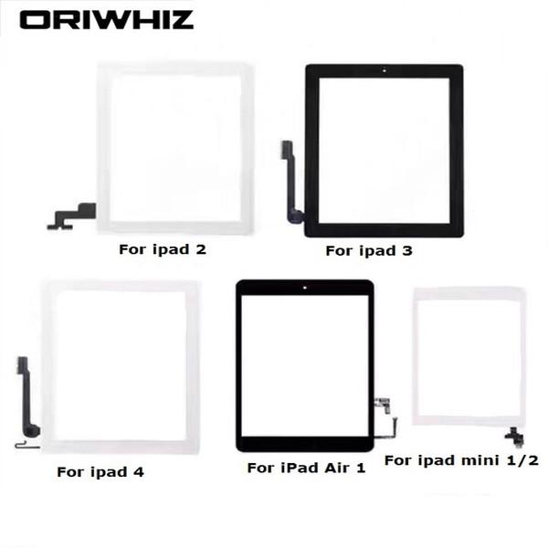 Sconto più grande per iPad 2 3 4 5 Air mini 1 2 3 Touch Screen Digitizer Assembly con pulsante Home e adesivo adesivo