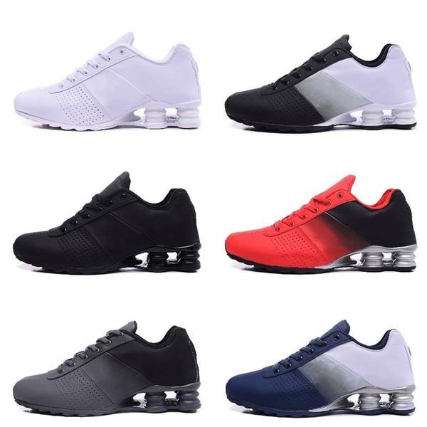 2019 Yeni Shox 809 Erkekler Koşu Ayakkabıları Teslim Toptan Ünlü TESLIF OZ NZ Erkek Atletik Sneakers Siyah Beyaz Artan Hava Yastığı ayakkabı