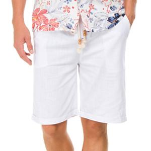 Men's Linen Casual Classic Fit Short summer men's solid color shorts, fashion casual men's shorts, loose shorts