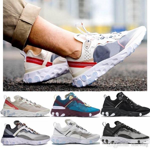 UNDERCOVER x Próxima Reagir Elemento 87 Pacote Branco Épico Sneakers Marca Homens Mulheres Formador Dos Homens Das Mulheres Designer De Execução Sapatos Zapatos 2019 Novo l1