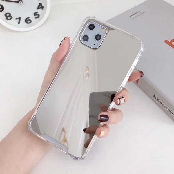 2020 nouveaux arrivants de luxe Placage téléphone portable miroir cas tpu couverture souple pour iPhone 11 pro Etui en silicone pour iPhone 11 cas