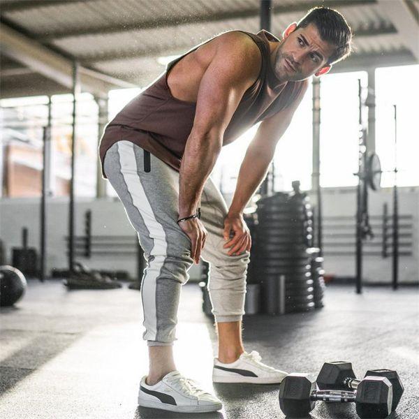 Training Pants Men Gym Running Pants Cotton Fitness Clothing Joggers Male Sweatpants Workout Skinny Trousers Mens Sport Pants SH190805