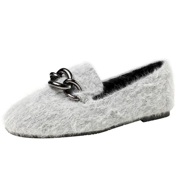 Nice Fashion Women Metal Buckle Flat Shoes Comfortable Lazy Shoes Lady Loafers Ballerina Flats #a