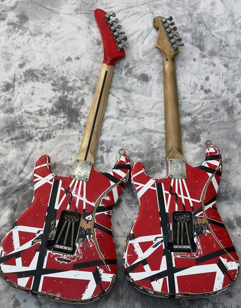 2022 electric guitar eddie van halen guitar aged relic t upgraded quality hardware hipped quick electric g