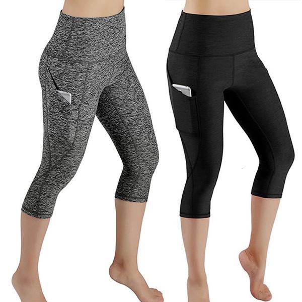 Fitness Vêtements Fitness pour femmes Sac extérieur Tight Pants Fitness Gymnase Course à pied Yoga Pantalon de sport Ceinture élastique