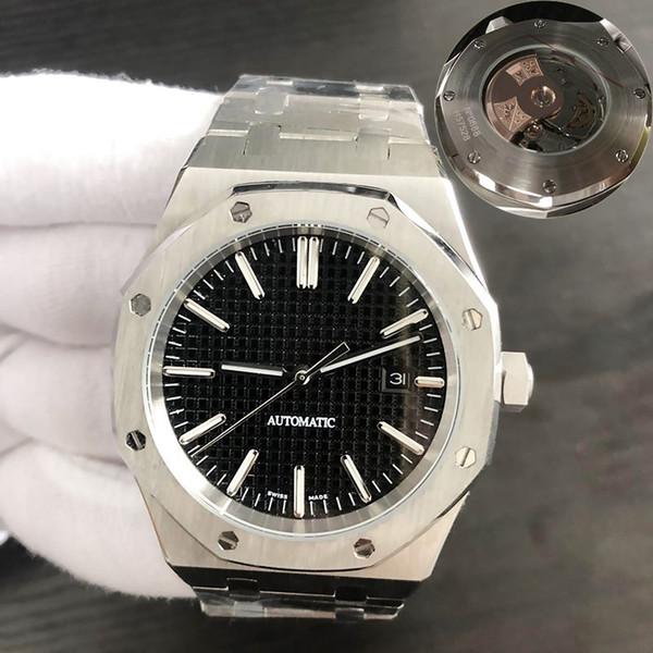 lüks saat 42mm tam paslanmaz çeliğin askısı otomatik altın saat aydınlık en kaliteli kol saati safir orologio di lusso 3697 su geçirmez