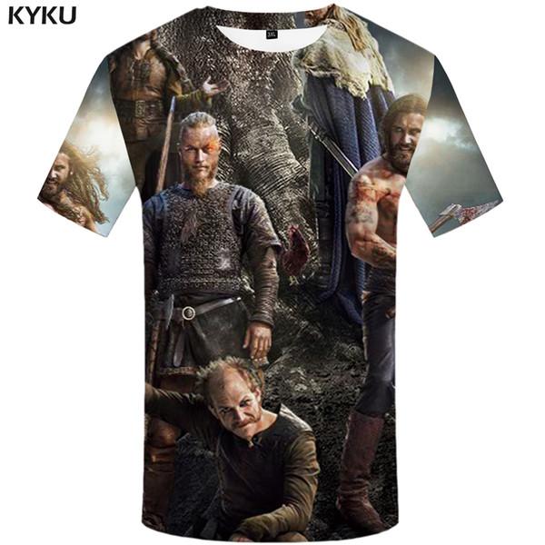 KYKU Brand Odin T shirt 3d anime t shirts casual shirt men slim fit 2017 new letter print casual mens clothing