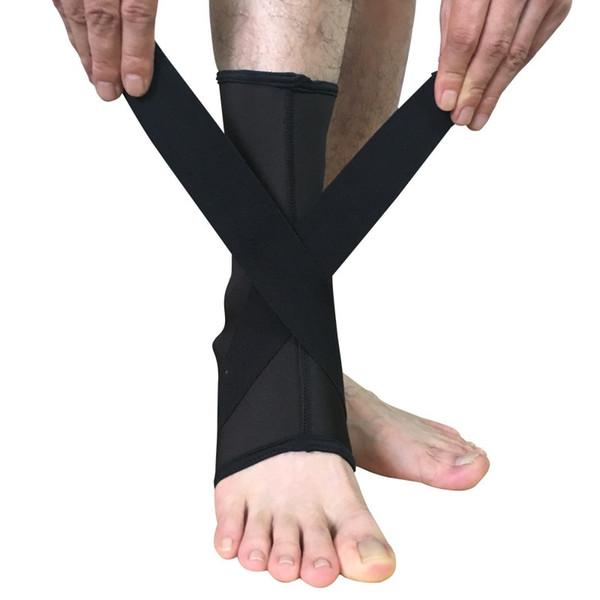 1PC Ankle Support Gym Running Protection Black Foot Bandage Elastic Ankle Brace Band Guard Sport Tobilleras Deportivas Safety #197690