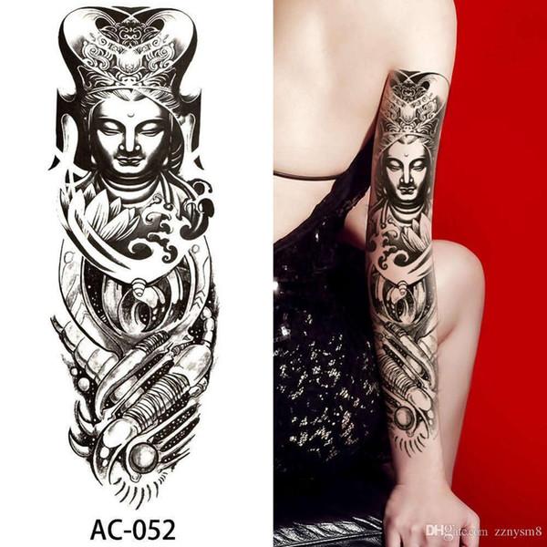 48 * 17 CM Novo Grande Tatuagens Temporárias Braço Body Art Removível À Prova D 'Água Etiqueta Do Tatuagem Enviados Frete Grátis