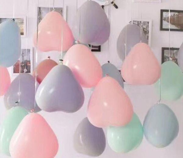 Makronenherz-geformte Ballone romantische Hochzeit verdickten Latexballondekoration alles Gute zum Geburtstag Party-Babyparty-Dekoration 12 Zoll
