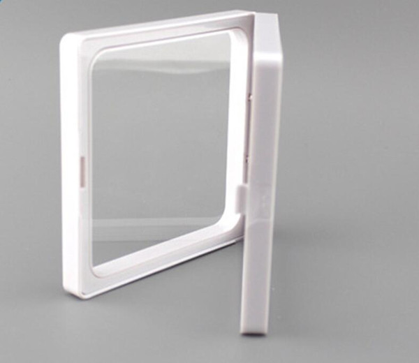 400Pcs/Lot 7x7x2cm,clear plastic membranes photo frame display/ collection box/jewelry box with two holding clear membranes-ourself mold