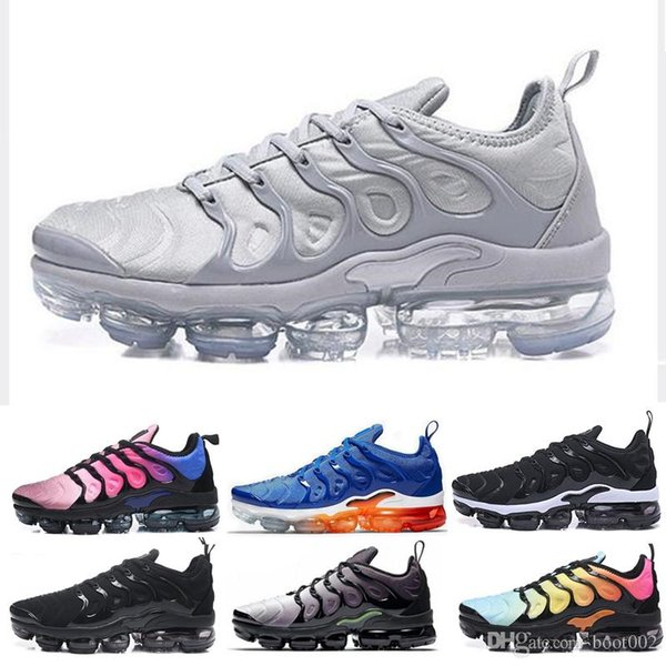 2019 USA Game Royal TN Plus Designer Sneaker Running Shoes Triple Black White Volt Violet Sliver Gradient Men Women ALUMINUM Sunset Trainers