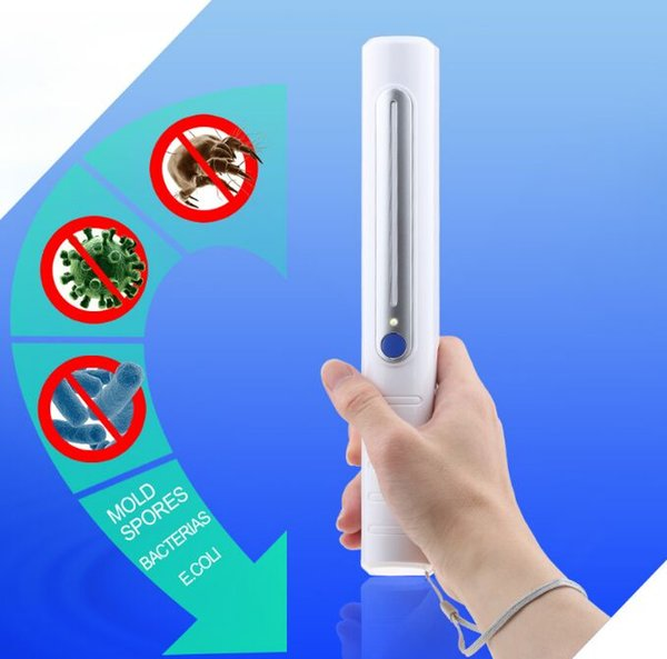 best selling 2019 NEW Traveling Sterilizer Portable UV Sanitizer Hand Wand Ultra Violet Light Kill Bacteria Germ Sterilizer with box