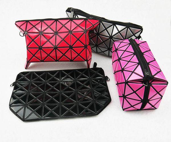 Cosmetic Wholesale Matte chain Accessor Fold Cute Bag Women Toiletry Bag Minaudiere Makeup Travel Organizer PU Cosmetic Evening Washing Bags