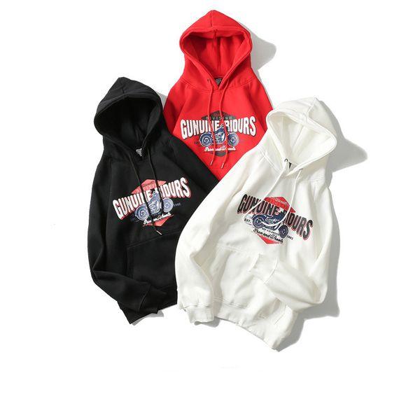 Толстовка для мужчин Мода Tide с длинным рукавом Толстовки Street Hip Hop Hoodie Новое Прибытие 3 Цвет Доступный Размер M-2xl