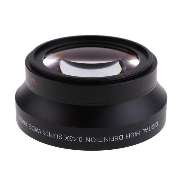 best selling 67mm 0.43x Super Fisheye Wide Angle Lens+Macro lens for 67mm Canon 5D 6D 7D Nikon Sony ALL DSLR Camera Lens