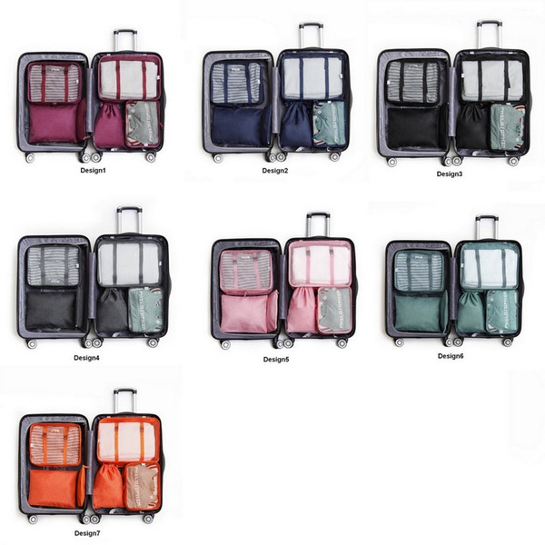 Cationic Oxford Cloth Storage Bag 7 Designs Simple Storage Bag 6 Piece Set Travelling Bag 10 Lots DHL