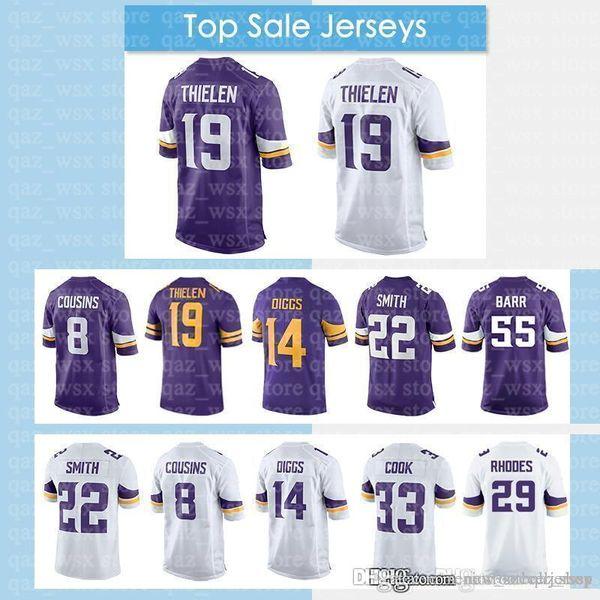 d638d90002d Vikings Jerseys 19 Adam Thielen Minnesota 14 Stefon Diggs 22 Harrison Smith  8 Kirk Cousins Jersey