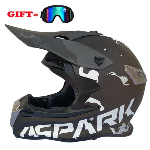 Motorcycle Cross-country Helmet Racing Full Helmet ABS Cross-country Men And Women Four Seasons Full Air Mirror