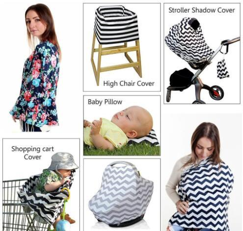 Astonishing 2019 2018Baby Feeding High Chair Cover Multifunctional 5 In 1 Baby Car Seat Cover Canopy Striped Infant Shopping Cart Nursing Cover From Spiritservingveterans Wood Chair Design Ideas Spiritservingveteransorg
