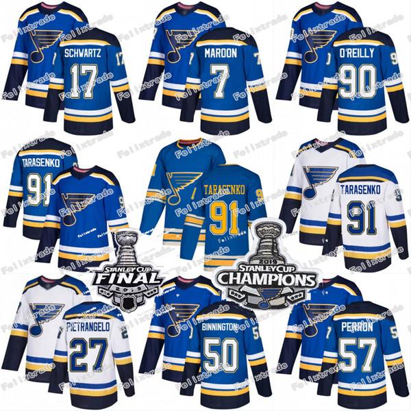 st. louis blues jersey 19 stanley cup final champions vladimir tarasenko alex pietrangelo jaden schwartz ryan o'reilly david perron parayko