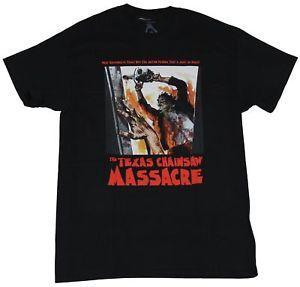 Camisa do Mens T do filme do massacre da serra de cadeia de Texas é imagem verdadeira do cartaz cinematográfico de 039 s